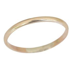 14k gold filled plain band toe ring